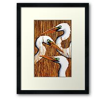 Three Egrets Framed Print