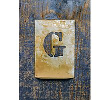 Letter G Photographic Print