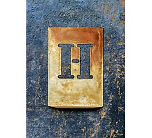 Letter H Photographic Print