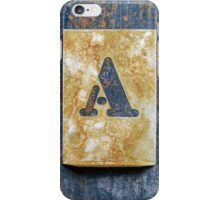 Letter A iPhone Case/Skin
