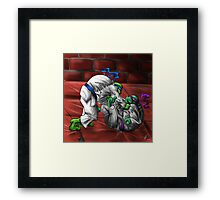 rolling with the times Framed Print