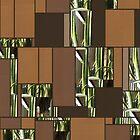 Cactus Garden Art Rectangles 6 by Christopher Johnson