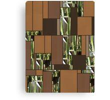 Cactus Garden Art Rectangles 6 Canvas Print
