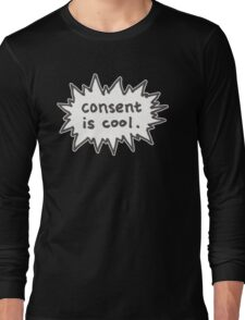 Consent is Cool Comic Flash Long Sleeve T-Shirt