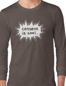 Consent is Cool Comic Flash Long Sleeve T-Shirt