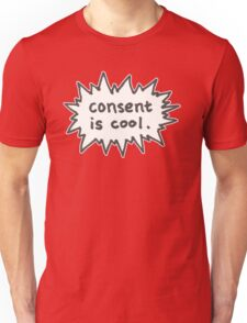 Consent is Cool Comic Flash Unisex T-Shirt