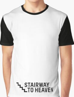 Stairway To Heaven Sexy Joke Funny Graphic T-Shirt