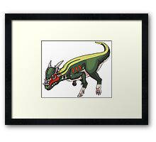 Stygimoloch/Pachycephalosaurus Framed Print