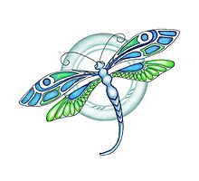 Deco Dragonfly by Sandra Gale