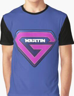 Guy Martin Superhero Logo Design Graphic T-Shirt