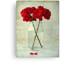 Red Geraniums Canvas Print