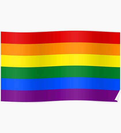 Gay Pride Rainbow Flag Poster
