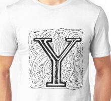 Beveled Alphabet Letter Y Unisex T-Shirt