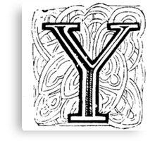 Beveled Alphabet Letter Y Canvas Print