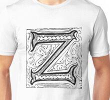 Beveled Alphabet Letter Z Unisex T-Shirt