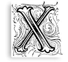 Beveled Alphabet Letter X Canvas Print