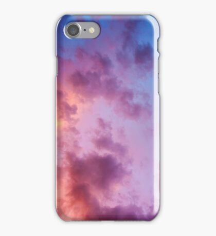 colorful clouds during  sunset over Holland iPhone Case/Skin
