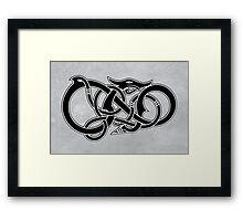 Viking Dragon in black Framed Print