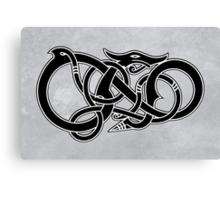 Viking Dragon in black Canvas Print