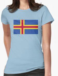 Åland Islands Flag Womens Fitted T-Shirt