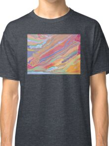Digital Painting (Rainbow Marble Effect/Mixed Paint) Classic T-Shirt