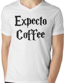 Expecto Coffee - I await Coffee Mens V-Neck T-Shirt