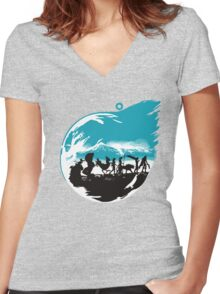 FELLOWSHIP OF THE FANTASY Women's Fitted V-Neck T-Shirt