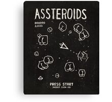 Assteroids - Retro Gaming Parody Canvas Print