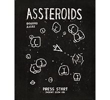 Assteroids - Retro Gaming Parody Photographic Print