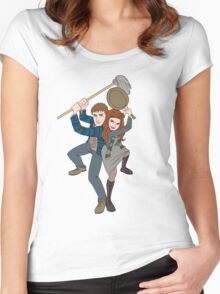 Night Terrors a la Tangled Women's Fitted Scoop T-Shirt