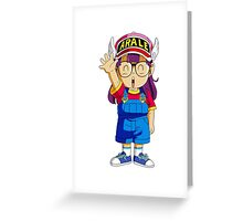 dr slump arale Greeting Card