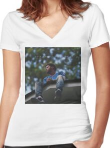 2014 Forest Hills Drive Women's Fitted V-Neck T-Shirt
