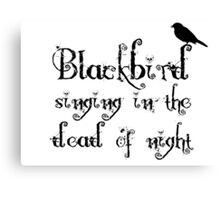 The Beatles Song Blackbird Lyrics Lennon McCartney Canvas Print
