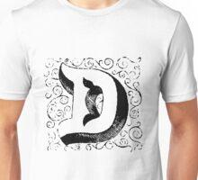 Block Alphabet Letter D Unisex T-Shirt