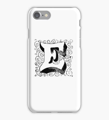 Block Alphabet Letter E iPhone Case/Skin
