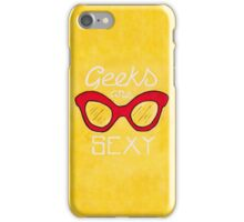 Geeks are Sexy - Vintage Glasses iPhone Case/Skin