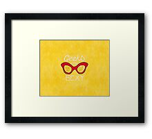Geeks are Sexy - Vintage Glasses Framed Print
