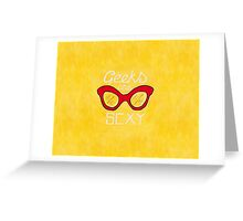 Geeks are Sexy - Vintage Glasses Greeting Card