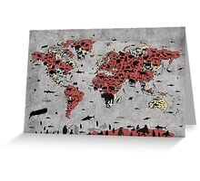 world map animals Greeting Card