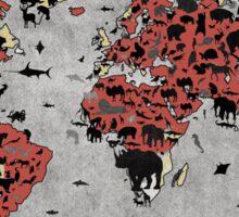 world map animals Sticker