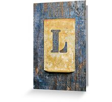 Letter L Greeting Card