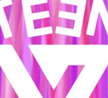 SEVENTEEN Badge - Pink  Sticker