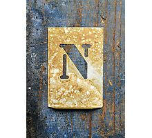 Letter N Photographic Print