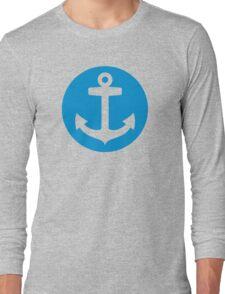 Blue anchor symbol Long Sleeve T-Shirt