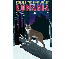 Romania Travel Poster Photographic Print