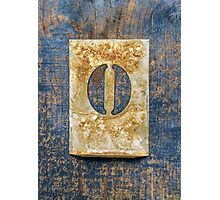 Letter O Photographic Print