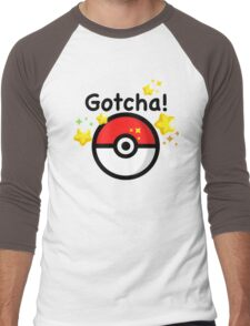 Pokemon go - Gotcha - pokeball Men's Baseball ¾ T-Shirt