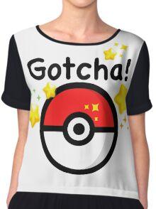 Pokemon go - Gotcha - pokeball Chiffon Top