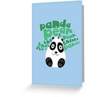 Pandapear Greeting Card