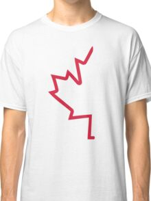 Red half maple leaf Classic T-Shirt